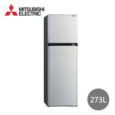 【MITSUBISHI三菱】一級能效273公升雙門變頻冰箱(銀色) MR-FV27EJ