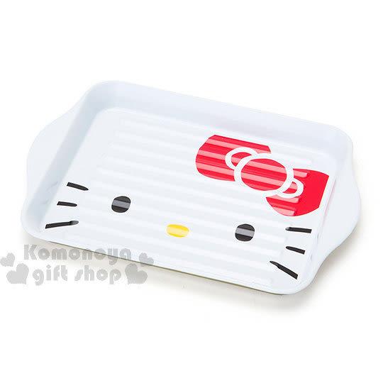 〔小禮堂〕Hello Kitty 鋼質收納盤《白.大臉》托盤.小物收納 4901610-25645