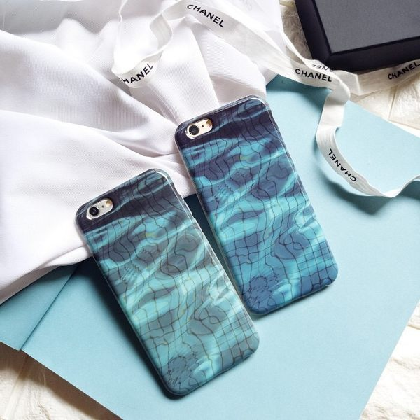 iPhone手機殼 游泳池波光水影 矽膠防摔軟殼 蘋果iPhone6手機殼
