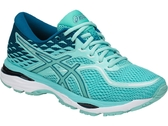 ASICS亞瑟士 女慢跑鞋 (藍/粉) GEL-Cumulus 19 緩衝、輕量 T7B8N-8888【 胖媛的店 】