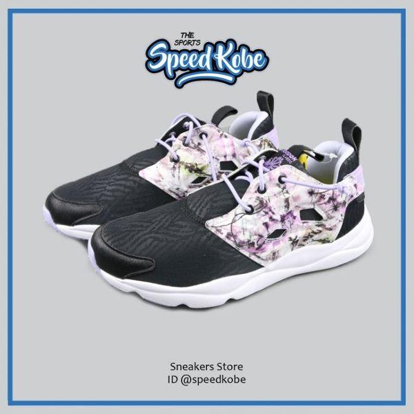 REEBOK 復古慢跑鞋 Furylite 黑花卉 渲染 花朵 女 AR2605 【SP】