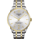 TISSOT 天梭 杜魯爾系列機械動力80手錶/手錶-銀x雙色版/42mm T0994072203700