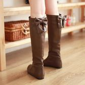 秋冬季中靴女秋長靴平底女靴秋季靴子長筒靴高筒靴秋款單靴【韓衣舍】