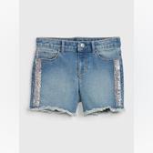 Gap女童時尚水洗亮片牛仔短褲539981-金屬片裝飾