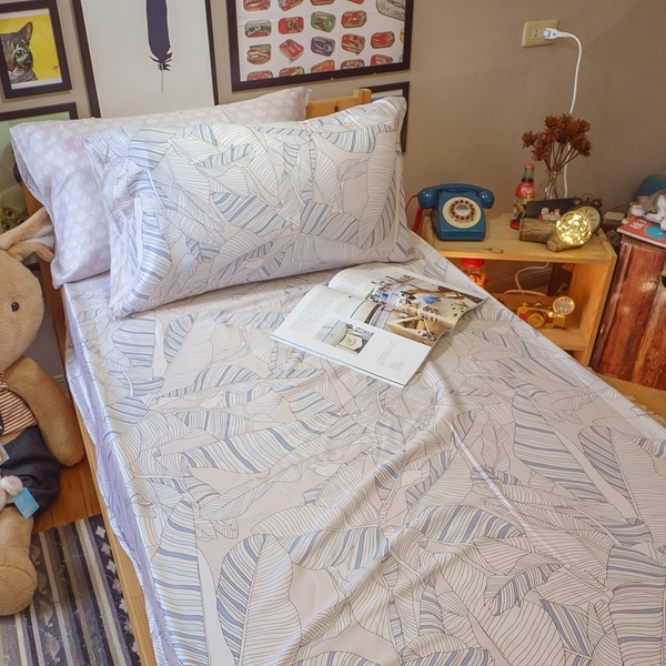 天絲床組 若語 S4單人薄床包與兩用被3件組 台灣製(40支) 100%天絲 棉床本舖