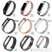 手環帶 適用手環2腕帶替換帶二代運動金屬不銹鋼替換帶手環帶 城市科技
