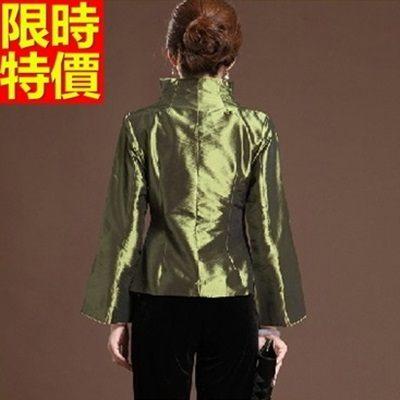 唐裝上衣-優雅復古民族風改良式翻領女中式禮服2色66ac22【時尚巴黎】