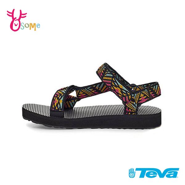 TEVA童鞋 男女童涼鞋 經典織帶涼鞋 ORIGINAL UNIVERSA 大童 運動涼鞋 休閒涼鞋 J6772#黑彩