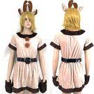 聖誕麋鹿俏女郎跨年麋鹿洋裝耶誕服角色扮演cosplay交換禮物女衣