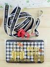【震撼精品百貨】Hello Kitty 凱蒂貓~KITTY證件套附繩-緞帶圖案-黑色