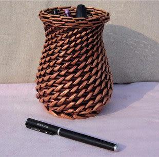 柳編收納筐,精品收納盒,工藝品筆筒