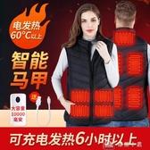 電熱馬甲男背心女usb充電發熱保暖全身加熱衣服坎肩外套  YXS交換禮物