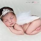 歐美手工寶寶皇冠髮帶 天使羽毛翅膀 攝影寫真