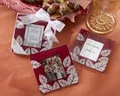 紅色楓葉相框杯墊 (兩入裝) 婚禮小物 送客小禮 婚禮佈置/50組