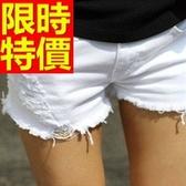 牛仔短褲-高腰必買單寧女休閒褲57d50【巴黎精品】