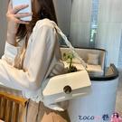 熱賣腋下包 法國小眾包包女2021流行新款潮韓版網紅質感手提小方包側背腋下包 coco