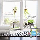 客廳臥室陽台窗戶裝飾品貼畫墻貼創意玻璃貼...