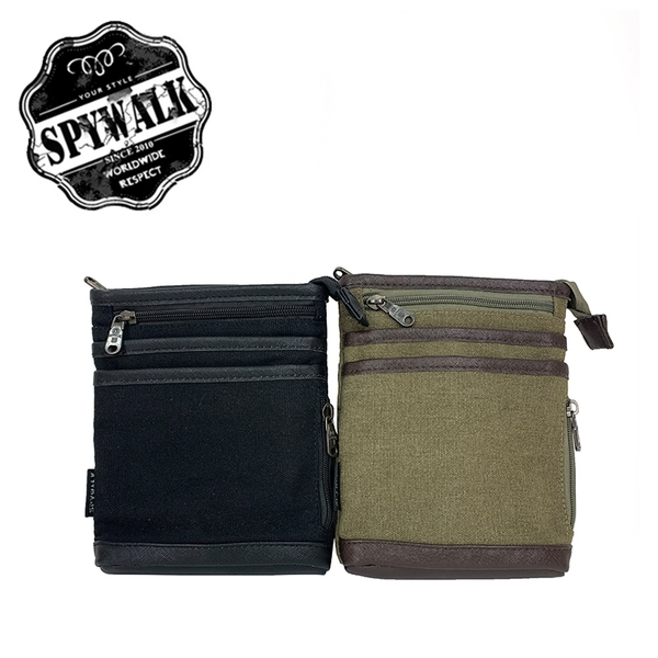 SPYWALK 多夾層率性腰掛包/附背帶可側背 NO: S9015