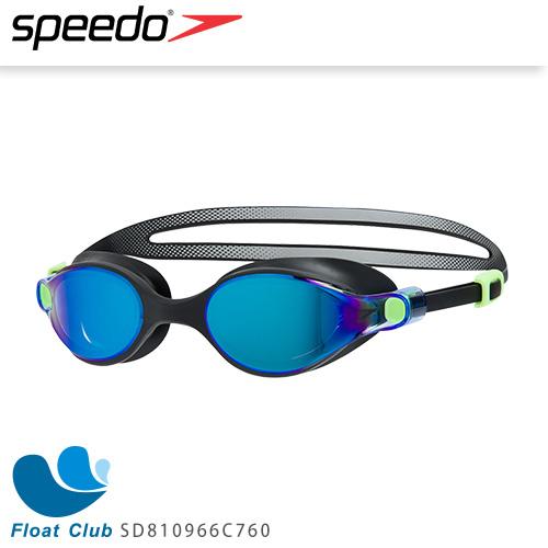SPEEDO 成人競技鏡面泳鏡 V-class 黑藍