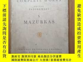 二手書博民逛書店chopin罕見complete works X MAZURKA