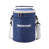 飯袋便當包保溫桶袋子手提圓形飯盒袋便當盒飯桶保溫袋帶飯手提袋 潮流衣舍