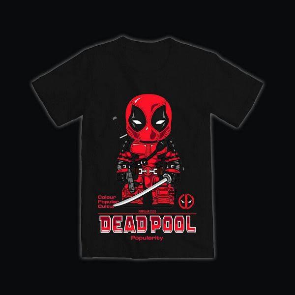 【人氣熊】惡棍死侍T恤-黑色、粉色(請附註購買顏色)