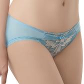 思薇爾-撩波羽晶伶系列M-XXL蕾絲低腰三角內褲(湛浠藍)