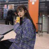 襯衫 2019春季新款chic韓版百搭學院風格子寬鬆長袖上衣襯衫女 曼慕衣櫃