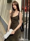 吊帶裙 配大衣穿的豹紋吊帶裙2021新款V領性感中長款打底連衣裙女夏季 【99免運】