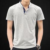 【免運】短袖polo衫 男士短袖T恤夏裝男裝恤夏天上衣服棉質體恤半袖立領POLO衫