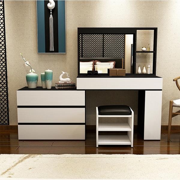 梳妝台臥室現代簡約小戶型ins風化妝台女經濟型多功能超夯化妝桌