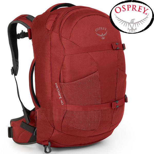 OSPREY Farpoint 40L Travel Pack Carry-On_寶石紅 自助旅行背包/登機包/旅行背包/雙肩背包/肩帶可收納