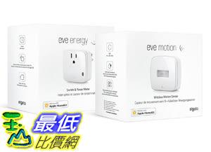 [107美國直購] Welcome Home Set Eve Energy and Eve Motion with Apple HomeKit technology Low Energy