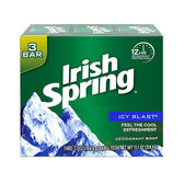 NG品 -【美國 Irish Spring】酷涼香皂-104.8g/3.7oz-三入,效期2023/03