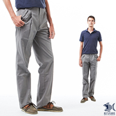 【NST Jeans】雷尼克頓 銀灰細棋盤格 打摺休閒男褲(中高腰寬版) 007(67340) 早春商品 55折起