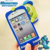 迪士尼 Disney 怪獸大學 iPhone5S/5 4S/4 保護殼 軟殼 怪獸電力公司 大眼仔 麥克華斯基 毛怪 軟式