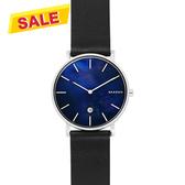 SKAGEN Hagen 北歐時尚石英手錶-藍貝x黑/40mm SKW6471