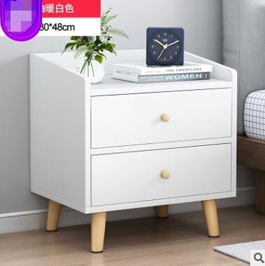 床頭櫃簡約現代迷你小型簡易臥室多功能收納儲物床邊櫃【37*30*48公分】