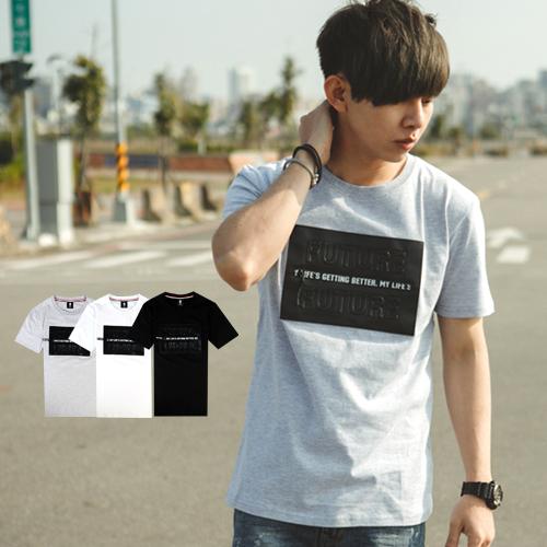 T恤 美式拉鍊立體鋼印皮革FUTURE文字短T【NB0456J】