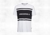 CONVERSE-Colorblock SS Tee 男款休閒白黑上衣-NO.10017458-A01