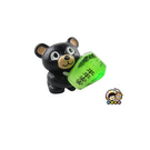 【收藏天地】台灣紀念品*黑熊抱天燈夜光冰箱貼-綠