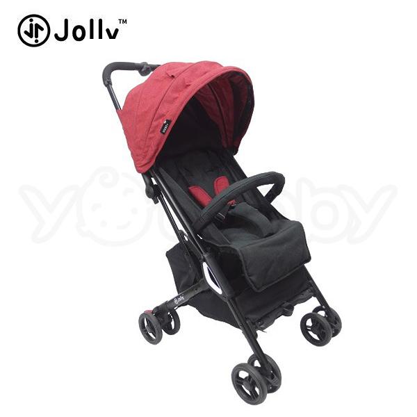 英國 JOLLY Pally 嬰兒手推車/背包車/膠囊車 -紅 (送 收納袋+肩背帶)