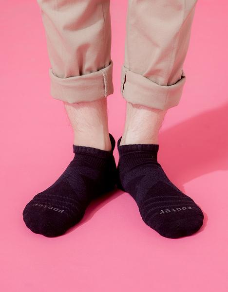 【 Footer 除臭襪】X型減壓經典護足船短襪 黑 24-27CM 男 (任選6雙960元)