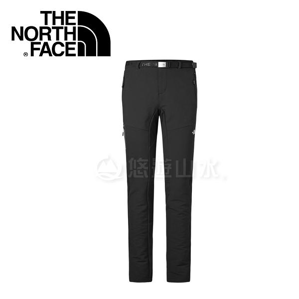 【The North Face 女款 彈性防潑保暖長褲《黑》】364QJK3/防潑水/休閒褲