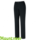 【Mountneer 山林 女款 SOFTSHELL保暖小直筒長褲《黑》】22S32/休閒長褲/防風透氣/軟殼保暖