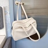 大容量托特包女短途出差旅行側背大包包2021秋冬新款韓國行李包袋 童趣屋  新品
