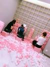 網紅牆海洋球馬卡龍粉色白色波波球海洋球球...