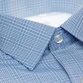 【金‧安德森】白色藍色交錯格紋內裡刷毛長袖襯衫