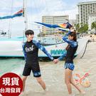 草魚妹-A220泳衣銘星長袖情侶泳衣浮潛泳裝三件式正品,單女生950元