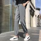 運動褲 褲子2021新款寬鬆束腳褲速干運動褲女顯瘦百搭九分褲小個子休閒褲 618購物節